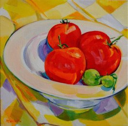 Michael's tomatoes by Martha Marlette