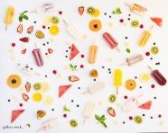 Summer fruit and ice cream