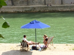 On the Seine, if you can believe it.